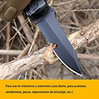 ORSIFOW Cuchillo Multiusos, Herramienta Multiuso Inoxidable 13 en 1 | Alicates Plegables & Cuchillo | Destornillador & Abrebotellas | Incluye ...