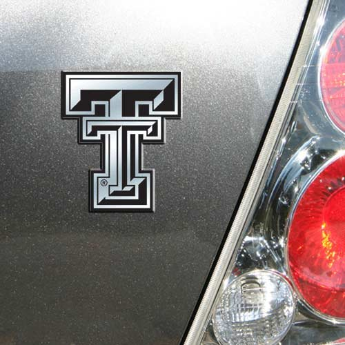 NCAA Texas Tech Red Raiders Chrome Automobile - Outlets Texas
