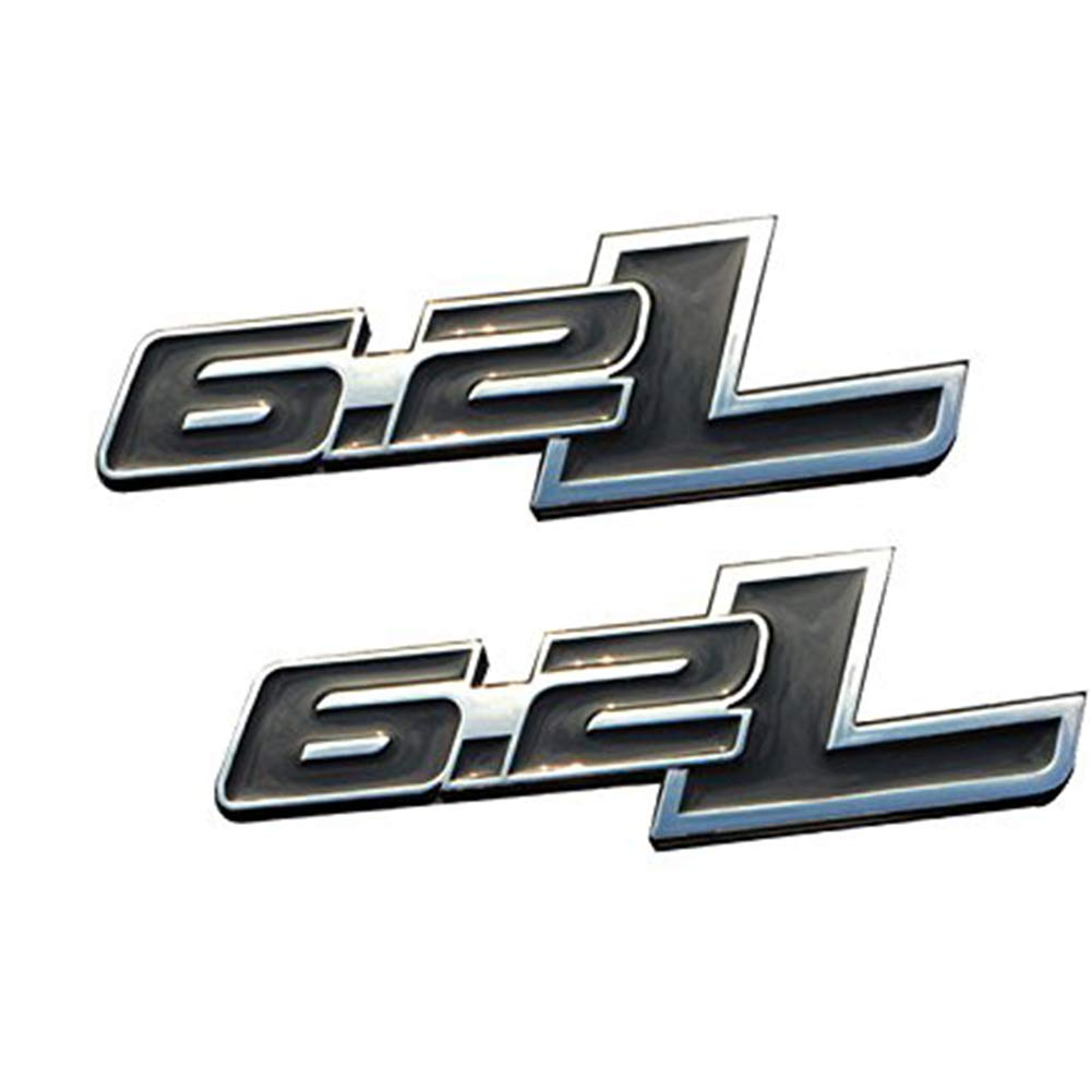 UPONEW 2 PCS 6.2L Fender Emblems Drivers Side Rear Tailgate Nameplates Stickers Replacement for Ford F-150 Ratpor F150