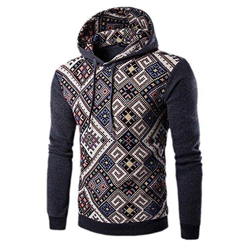 Manteau Sweat Polaire Pour Épaissir Vêtements Foncé Hiver Au Hommes Homme Dresslksnf Impression Gris Chaud Rétro Garder shirt qt8E1wnwS