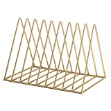 SUOHONG Vintage Magazine Holder & Book Rack, Vintage Hill Desktop File Organizer Iron Art Desktop Storage Rack Bookshelf Office Home (Triangle)