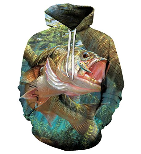 (Swag Hoodies Funny Fish Printed 3D Anime Sweatshirt Outwear Hoody Streetwear )