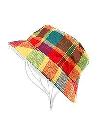 Stylish Children Unisex Bucket Hat Casual Cotton Plaid Cap Summer Beach Sun Hat(Colors)