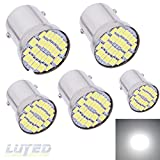LUYED 5 x 500Lumens 1156 3014 36-EX Chipsets 1156 1141 1003 7506 LED Bulbs Used For RV Camper,Xenon White(Provide adequate illumination for one side irradiation)