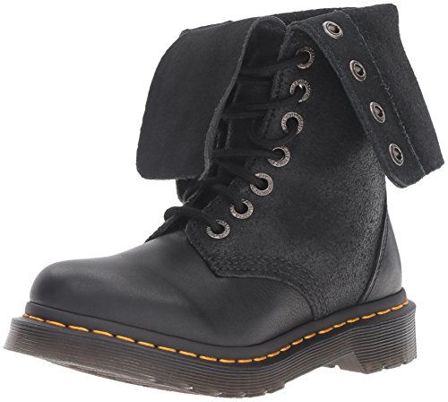 Dr. Martens Women's Hazil Boot Black Virginia Leather Boot, Black Virginia Leather, 4 Medium UK (6 US) by Dr. Martens (Image #1)