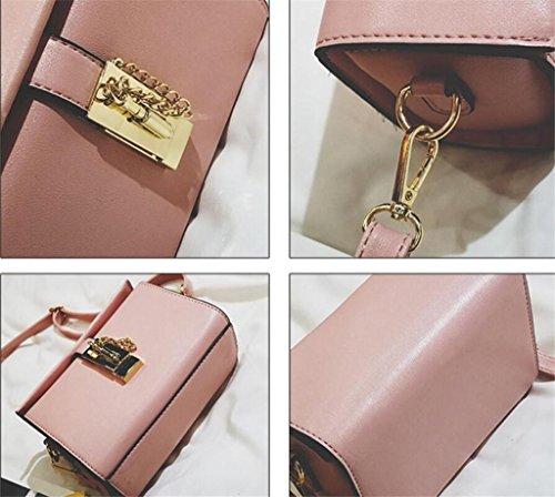 Caja Mensajero Bolso Pink Bao Cuadrado De Pequeño Solo Clásica Bolsa Mano Señora Hombro HgPqwAf