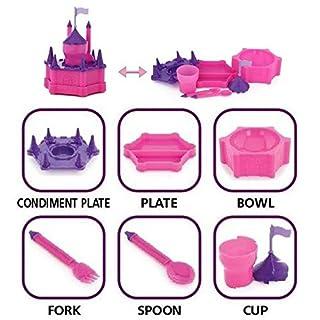 KidsFunwares Princess Platter Kids Dinnerware Set with Utensils