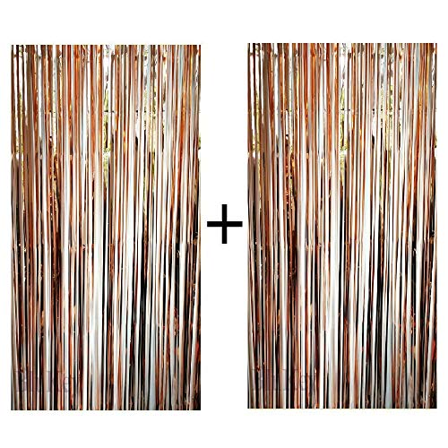 Gold Plastic Garland - Blukey Foil Fringe Backdrop Metallic