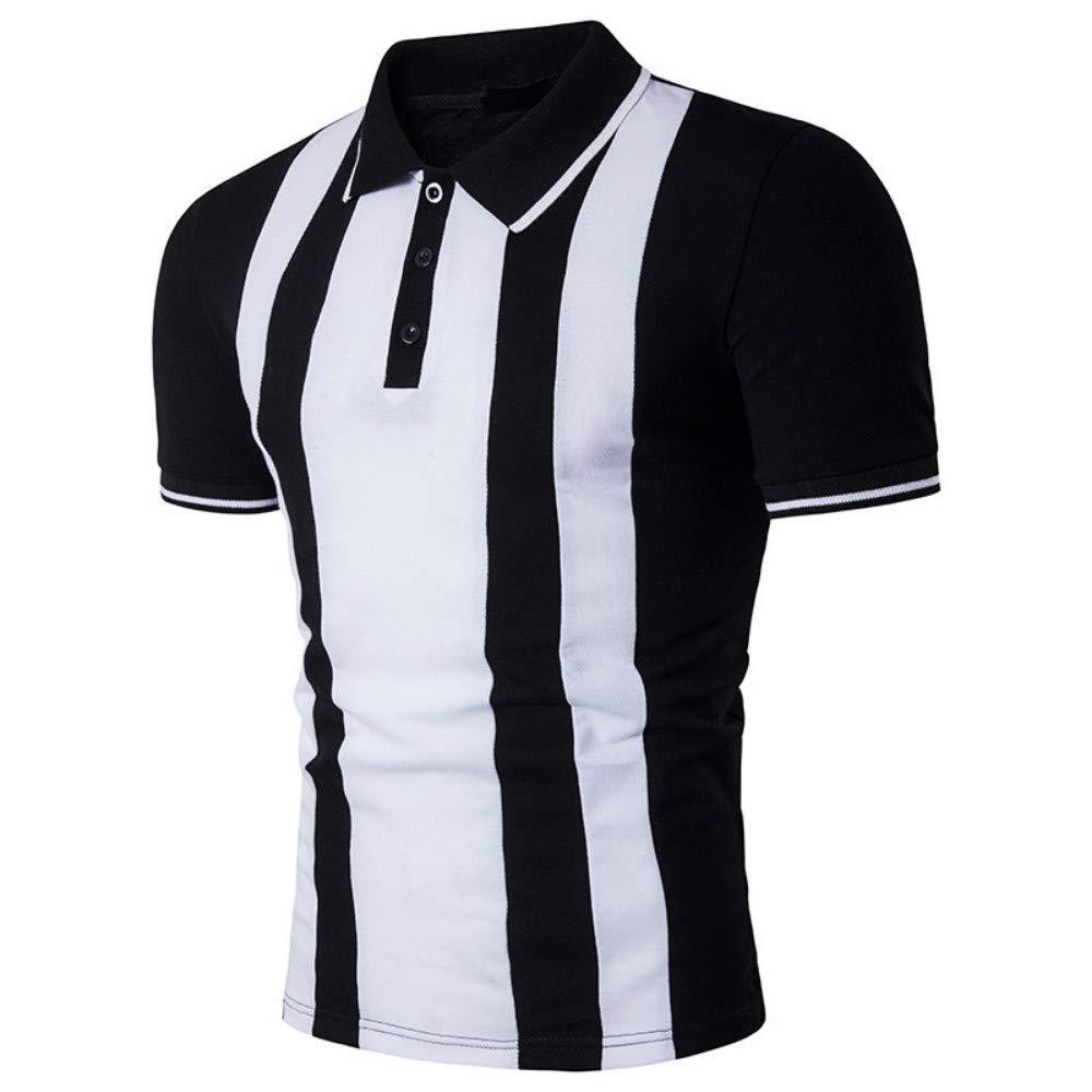 NISHISHOUZI Rayas Verticales Polo Shirt Hombres Verano Nuevo Mens ...