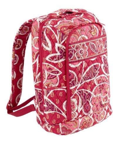 Vera Bradley Large Laptop Backpack (Rosy Posies), Bags Central
