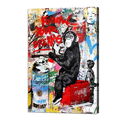 Banksy Graffiti Street Art Chimpanzee