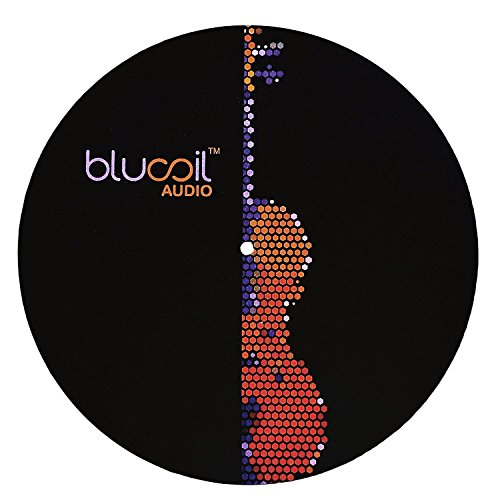 Slipmats Design (Blucoil Audio 12'' Turntable Slipmat – 4 mm Thick Durable Design for DJing and Vinyl Record Players to Improve Sound Quality, Reduce Vibrations and LP Protection)