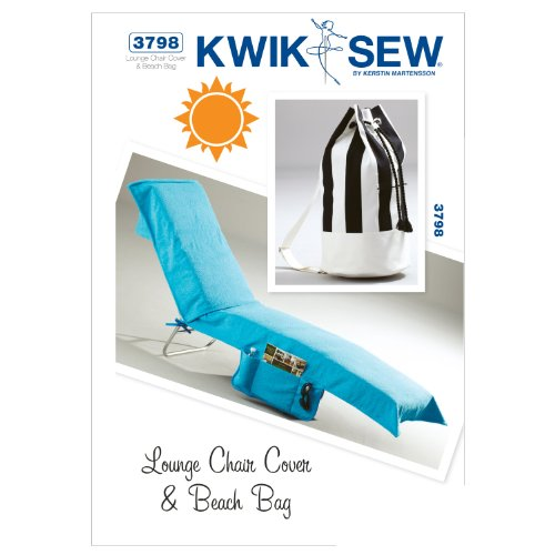 Mccall Pattern Kwik Sew K3798 Lounge Chair Cover and Beac...