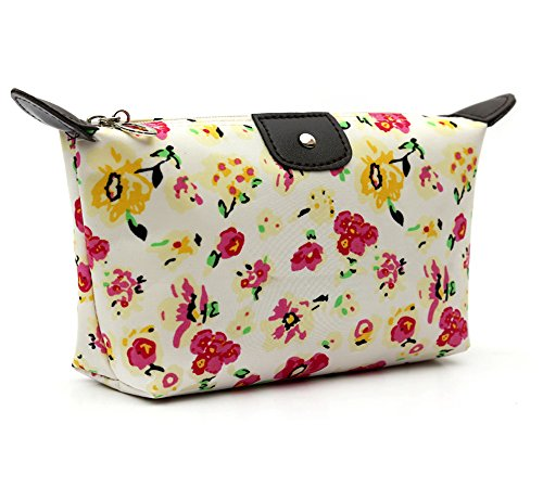 HOYOFO Women's Travel Cosmetic Bags Small Makeup Clutch Pouch Cosmetic and Toiletries Organizer Bag