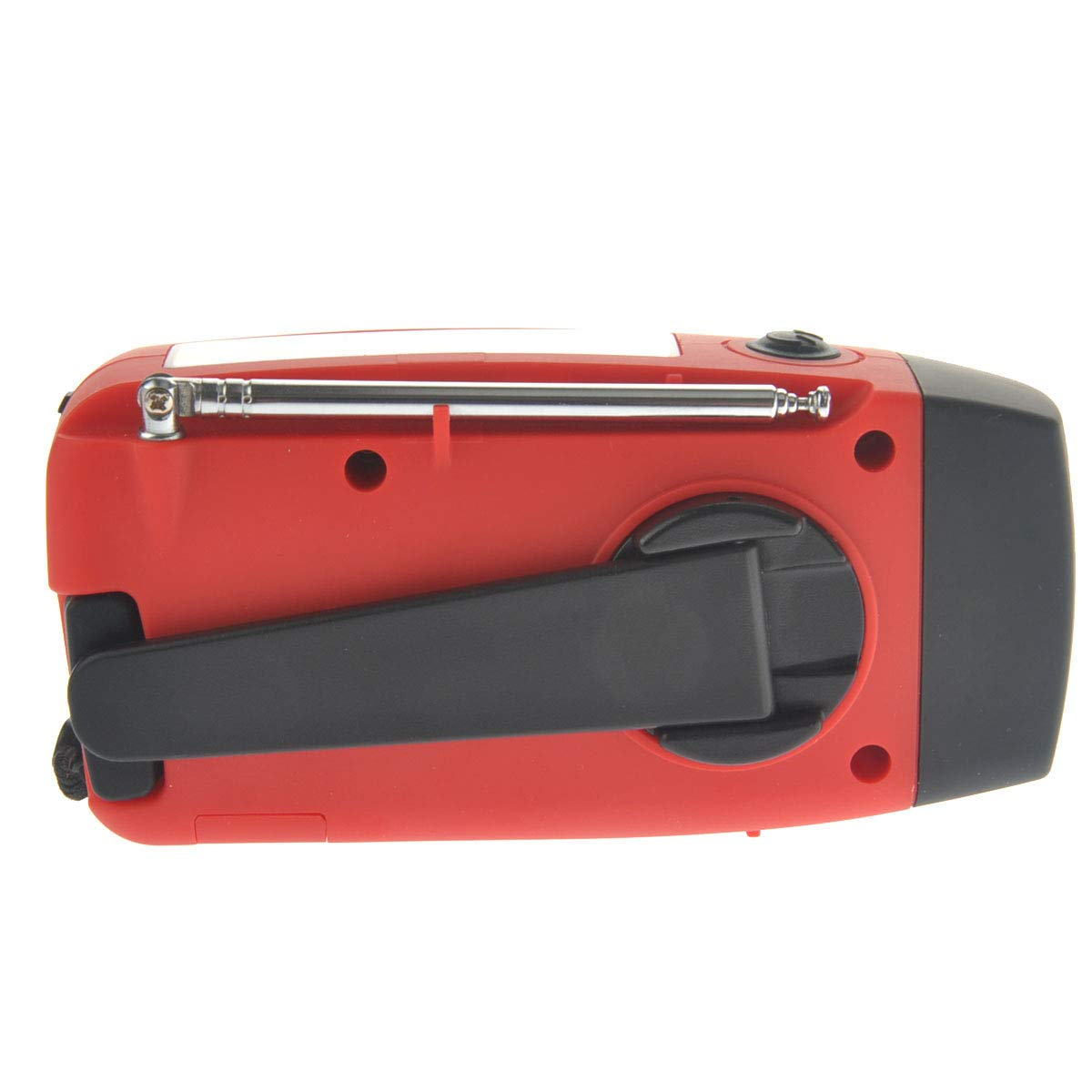 VOSAREA Emergency Solar Crank AM FM Camp Radio with LED Flashlight USB Output Port(Red) by VOSAREA (Image #7)