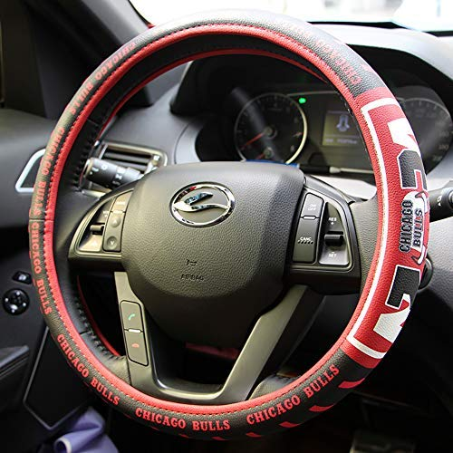 - eing Car Steering Wheel Cover Football Team Universal 15 Inch Steering Wheel Cover - NBA Bull Team