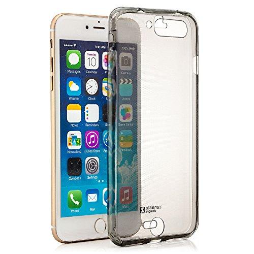 zanasta Designs Apple iPhone 6 Plus / 6S Plus (5,5) Funda Cubierta Case Cover Silicona Flexible Soft Shell Protección para las partes delantera y trasera, Transparente Gris