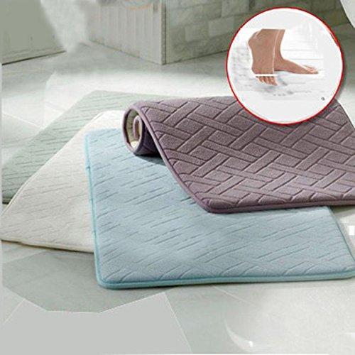 Carpets, Mats & Rugs - Honana Wx-337 Thickened Coral Velvet Memory Foam Rug Bathroom Mat Soft Non-Slip Plush Floor Carpet - Colored Velvety Spume Chromatic Froth Carpeting - (Super Foot Warmer Large Rubber)