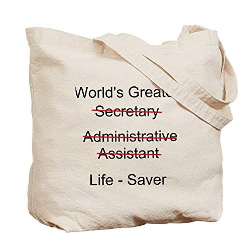 CafePress–más grande del mundo secretario–Gamuza de bolsa de lona bolsa, bolsa de la compra