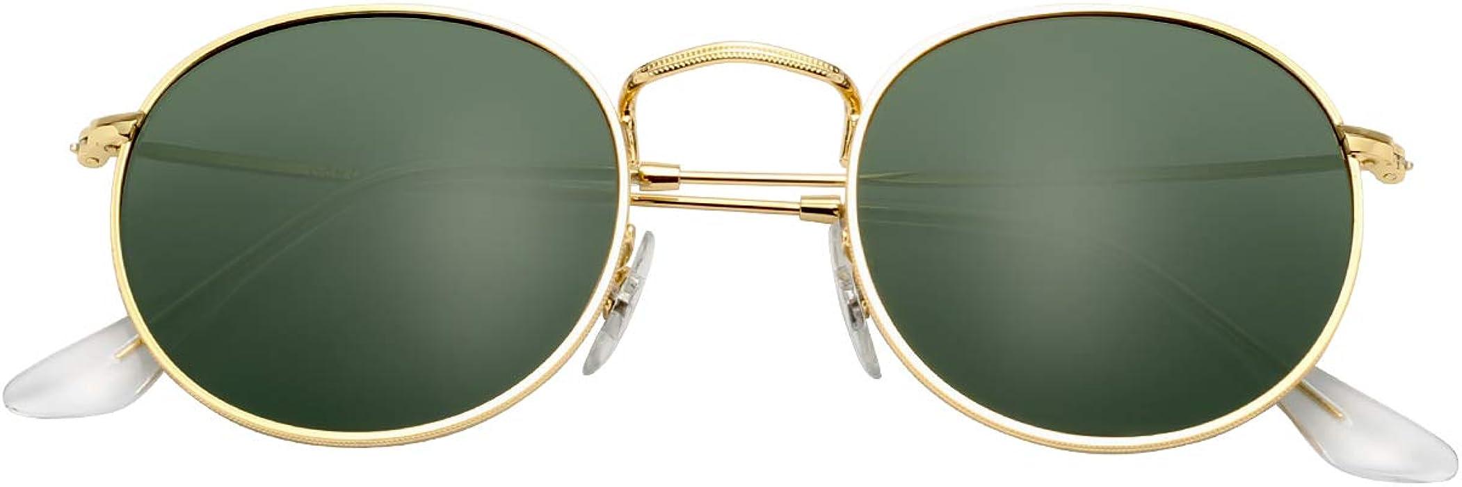08249b4b62 LianSan Classic Metal Frame Round Circle Mirrored Sunglasses Men Women  Glasses 3447 …