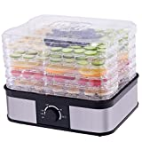 CHEFJOY 5 -Tray Food Dehydrator Food Preserver Fruit Vegetable Dryer Temperature Control