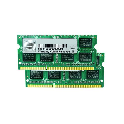 G.SKILL 4GB (2 x 2GB) 204-Pin DDR3 SO-DIMM DDR3 1066 (PC3 8500) Dual Channel Kit Laptop Memory Model F3-8500CL7D-4GBSQ