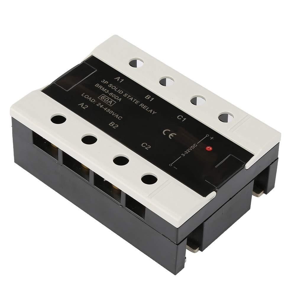 60DA 80DA Halbleiterrelais 3-phasig 24-480VAC Relaismodul 40DA BRM3-80DA