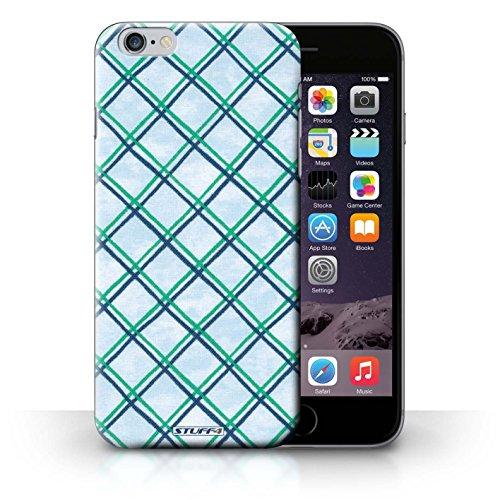 Hülle Case für iPhone 6+/Plus 5.5 / Grün/Blau Entwurf / Kreuz Muster Collection