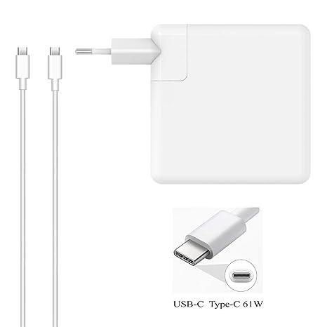 DTK 61W USB-C Tipo C Cargador para Nuevo Macbook Pro HP Acer ASUS Lenovo DELL Huawei Matebook Ordenador portátil Smartphone Alimentación Adaptador