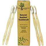 Tree Huggers 100% Biodegradable Organic Bamboo Toothbrush, BPA-free Soft Bristles, Pack of 4