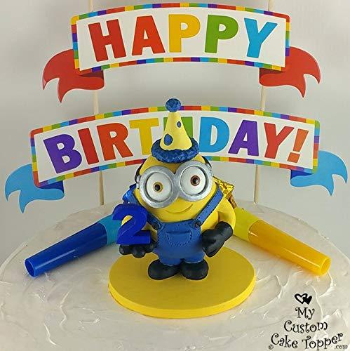 Excellent Amazon Com Minion Birthday Cake Topper Happy Birthday Minion Funny Birthday Cards Online Unhofree Goldxyz