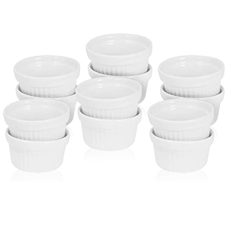 COM-FOUR® 12x cuencos Ragout Fin hechos de cerámica, cazuela y moldes para