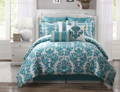 durable service 9 Piece King Chateau 100% Cotton Comforter Set