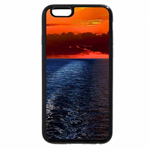 iPhone 6S Case, iPhone 6 Case (Black & White) - road to a beautiful valley hdr