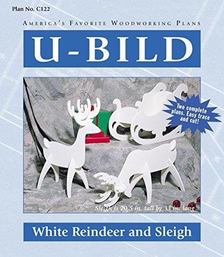 U-Bild C122 2 U-Bild 2 White Reindeer and Sleigh Project Plans Reindeer Plan