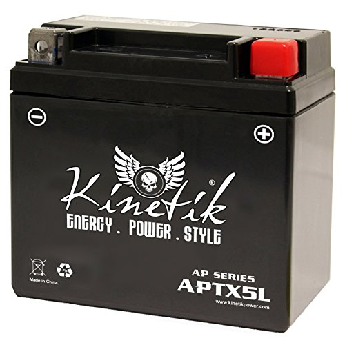 kinetik 12v 4ah battery for polaris predator sportsman atv. Black Bedroom Furniture Sets. Home Design Ideas