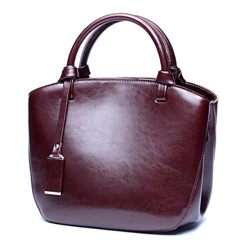 sac Elegant Dame Simple Wild Cadeaux Sac Wild pour main Jxth main Marron à les cuir Satchel en couleur à véritable à avec bandoulière femmes rouge Sac Sacs 7Txwdq4