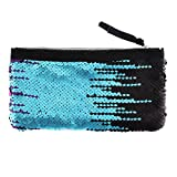 Clearance! Women Make-up Bag Double Color Sequins Coin Cards Holder Purse Wallet Pencil Pouch (M)