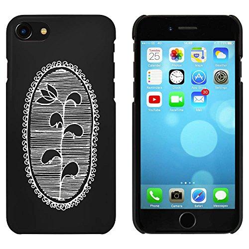 Noir 'Motif de Fleur' étui / housse pour iPhone 7 (MC00065527)