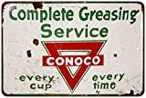 Conoco Complete Greasing Service Vintage Reproduction Metal Sign 8x12 8123444