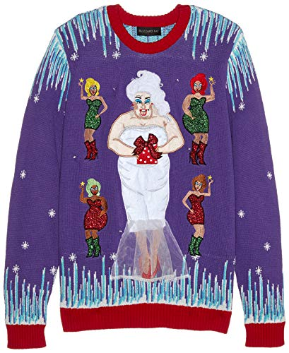 LGBT Community Themed Ugly Christmas Sweater, Divine Snow Queen