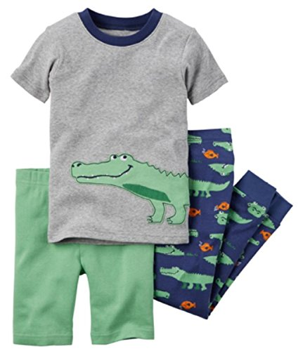 Carter's 3 Piece Pajama Set for Little Boys (7, (03) Alligator) ()