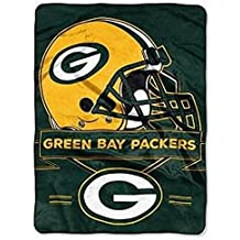 """NFL Officially Licensed Green Bay Packers 60"""" X 80"""" Royal Plush Raschel Fleece Throw"""