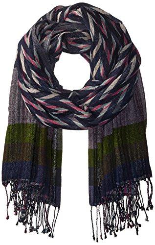Echo Women's Ziggy Stripe Wrap, Navy, One Size