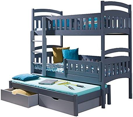 Alter GM Litera para niños de Tres Niveles, con Escalera y cajón, para Cama Dominic 3: Amazon.es: Juguetes y juegos