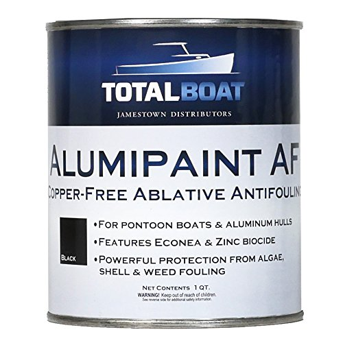 TotalBoat Alumipaint AF Aluminum and Pontoon Boat Bottom Paint (Black, Quart)