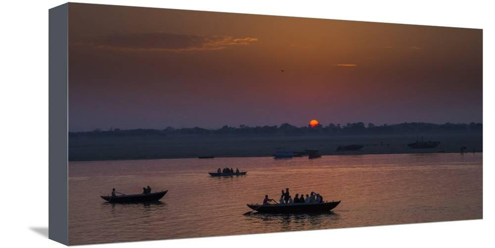 ArtEdge India Sunset Stretched Canvas Print