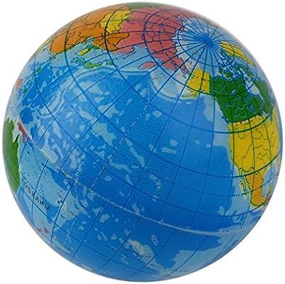 Mapa del mundo azul Espuma Globo terráqueo Alivio del estrés ...