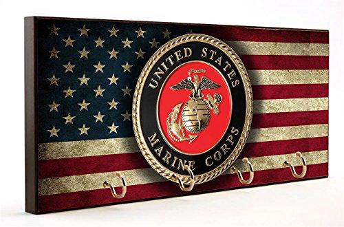Distressed Flag Us Marine Corps Key Hanger