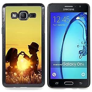 "Planetar ( Niños Niños Amor Romance Niñez Sun"" ) Samsung Galaxy On5 O5 Fundas Cover Cubre Hard Case Cover"
